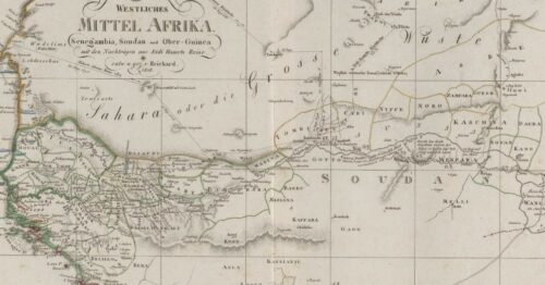 Blank spaces on an early 19th century map of Africa