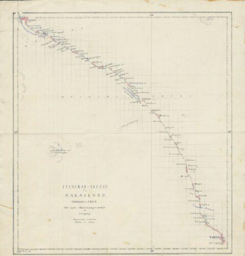 itinerary draft of the Nakasendo