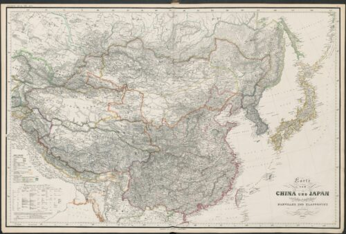 map on China and Japan